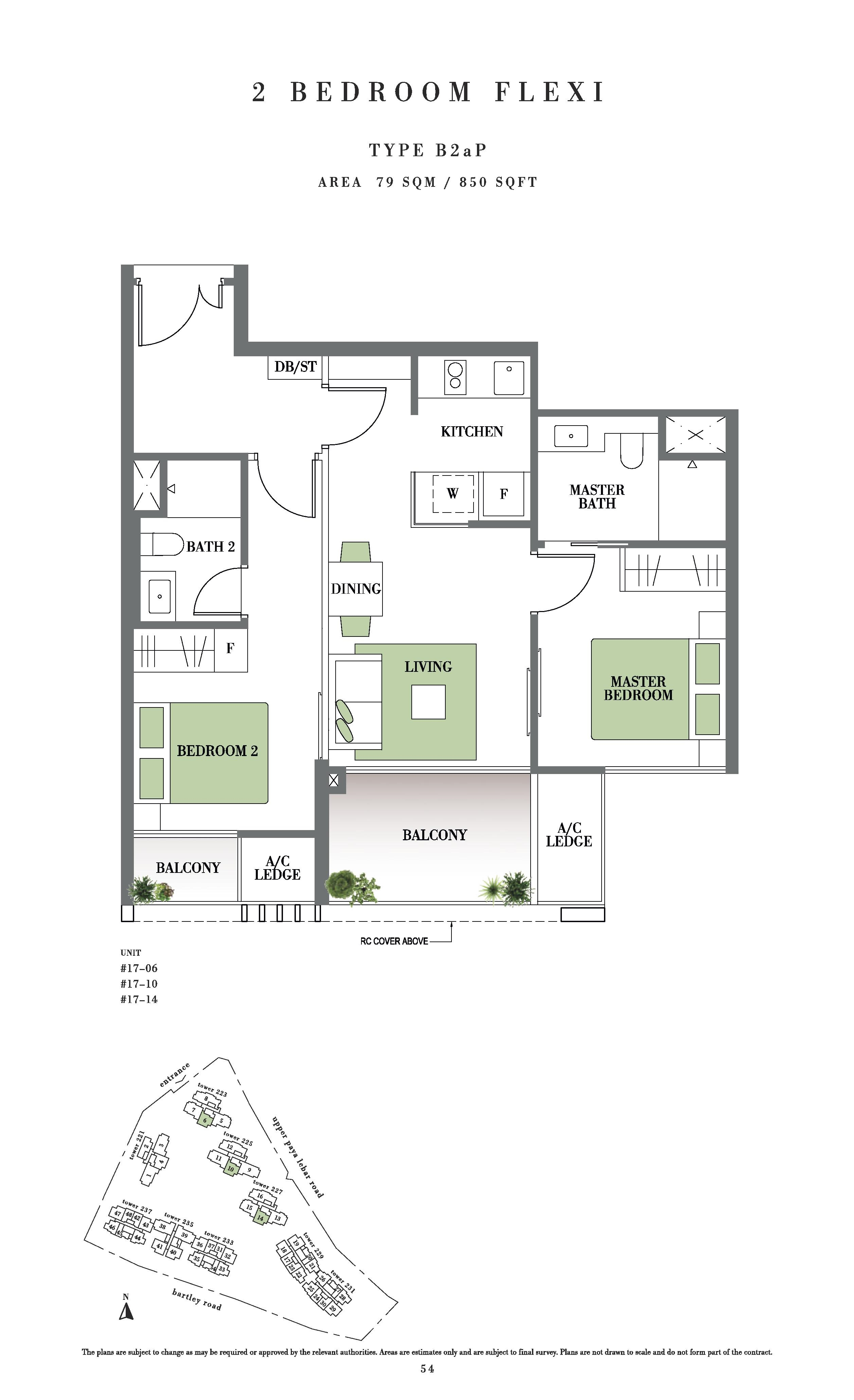 Botanique @ Bartley 2 Bedroom Flexi Floor Plans Type B2aP