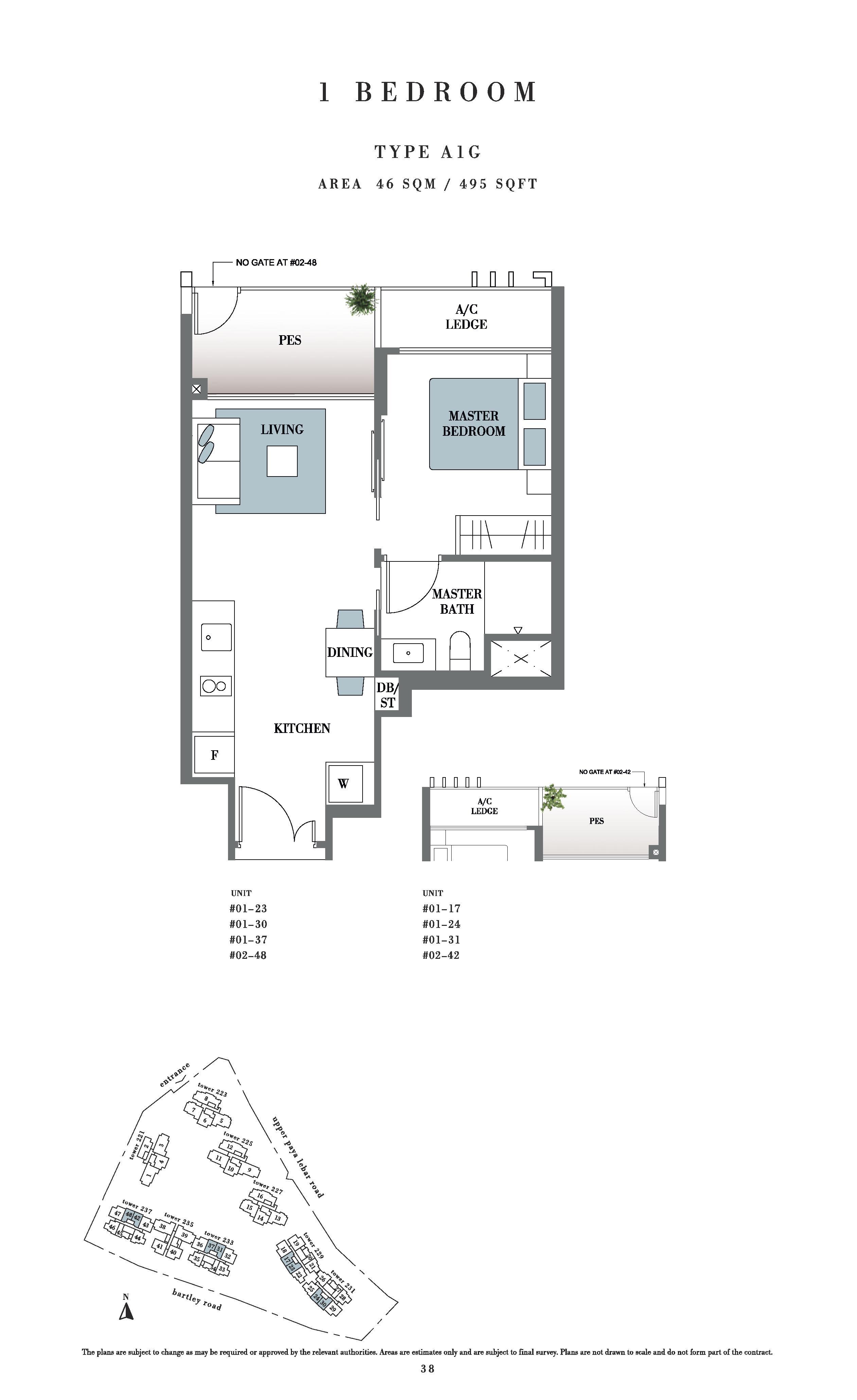 Botanique @ bartley 1 Bedroom PES Floor Plans Type A1G