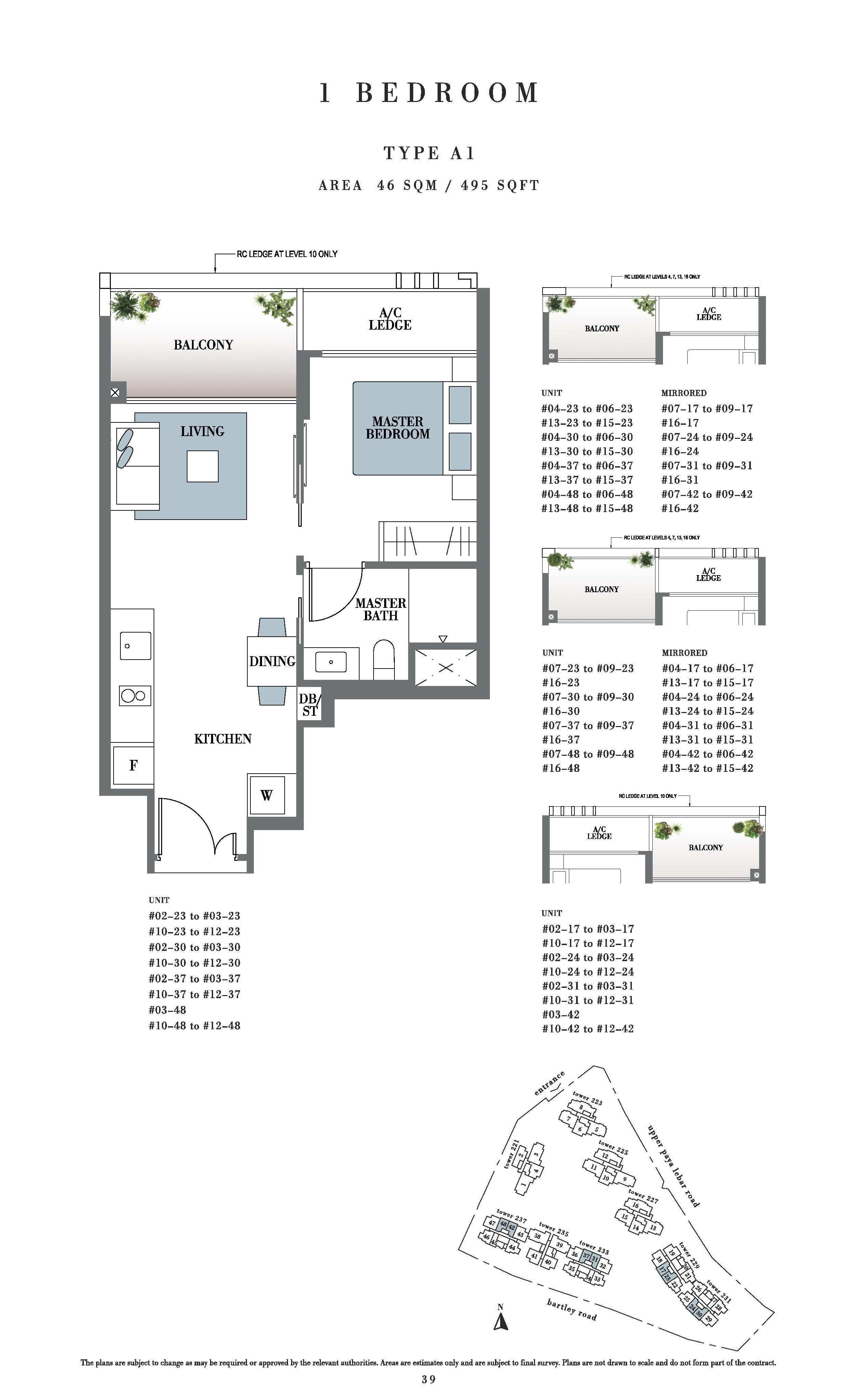 Botanique @ bartley 1 Bedroom Floor Plans Type A1