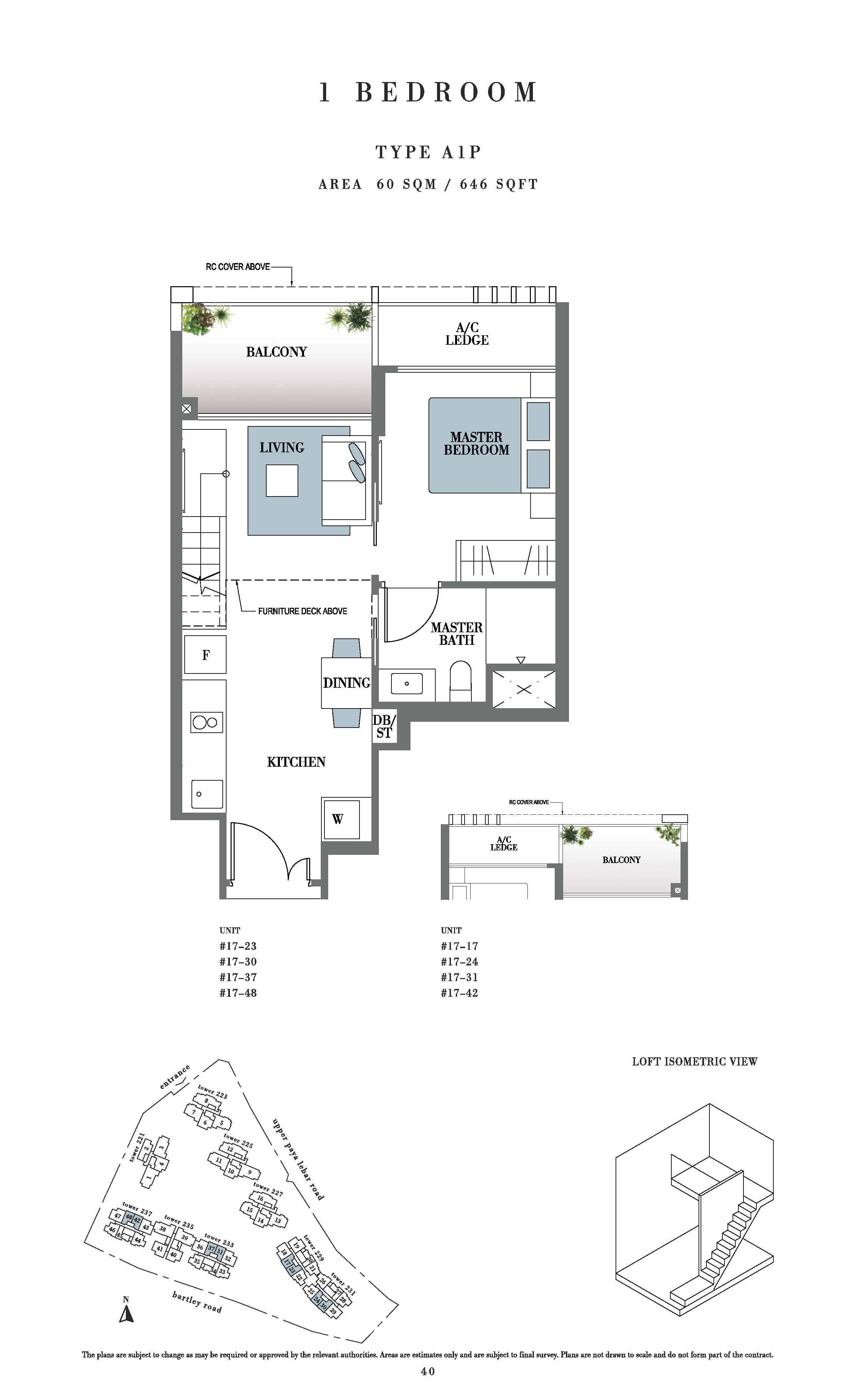 Botanique @ bartley 1 Bedroom Floor Plans Type A1P